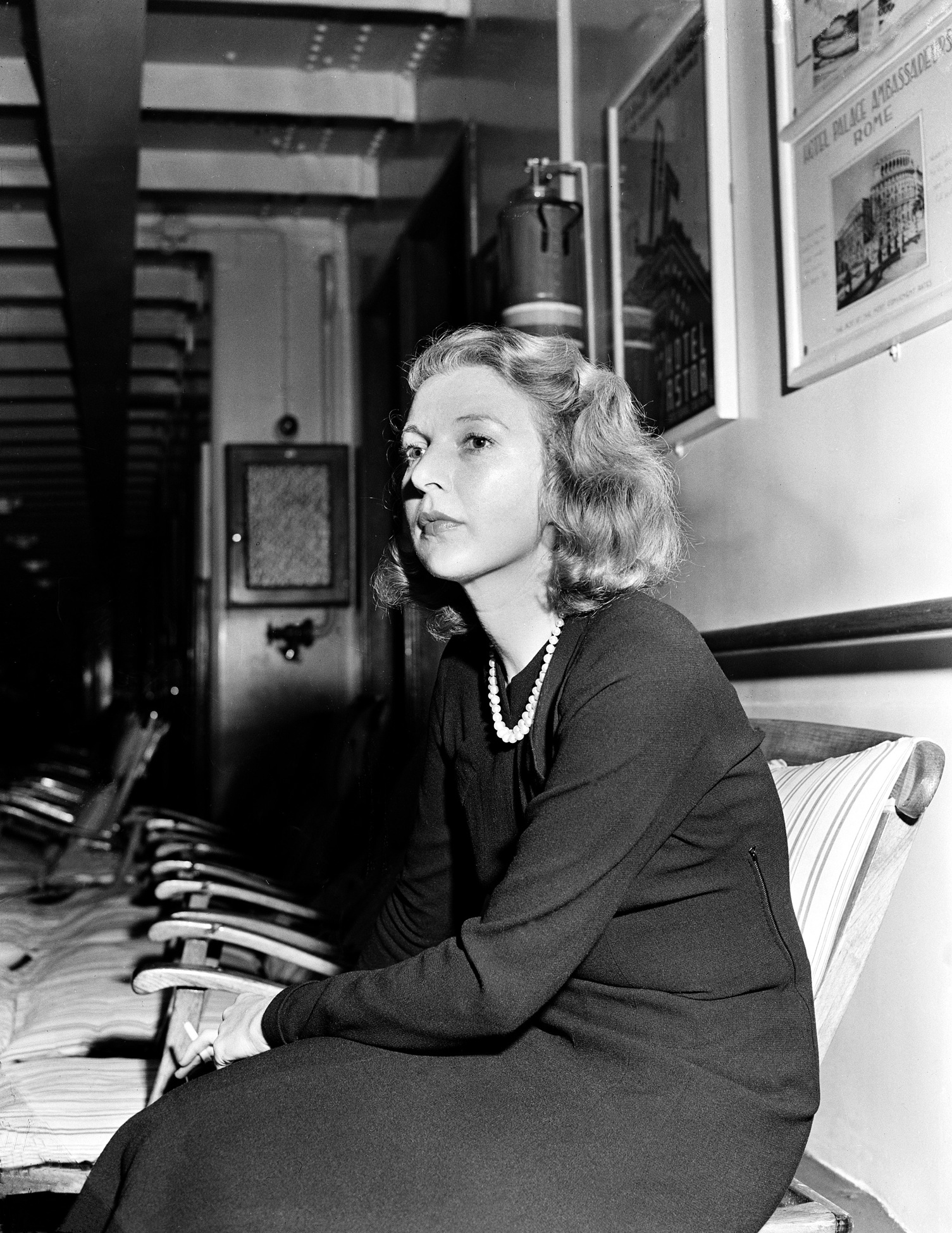 Writer and correspondent Martha Gellhorn is shown in this undated ...